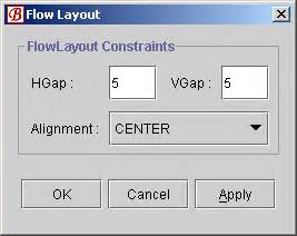 js flow layout using flow layout