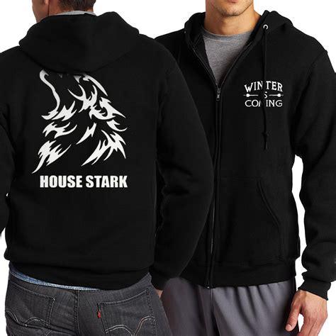 Jaket Hoodie Zipper Winter Is Coming Of Thrones Of Thrones House Stark Winter Is Coming Zip Up
