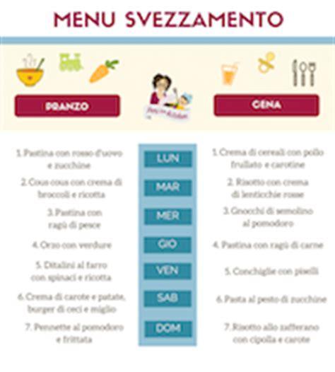 tabella alimenti svezzamento ricette per lo svezzamento menu e consigli peri the
