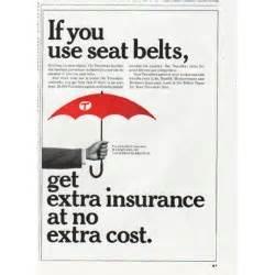 1965 travelers insurance vintage ad quot seat belts quot