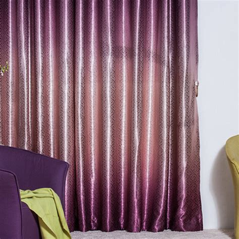thick purple curtains thick gradient purple polyester jacquard blackout curtains