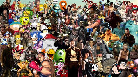 wallpaper game mix video game characters wallpaper wallpapersafari