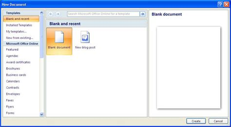 create document template use a template microsoft word 2007 computergaga