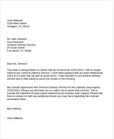 Service Agreement Contract Termination Letter 15 Business Letters Free Premium Templates