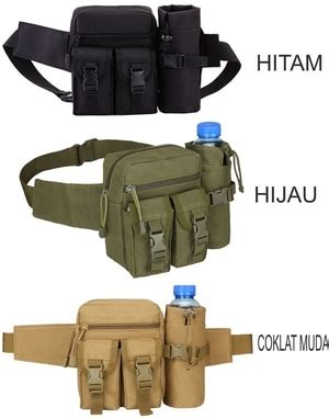 Tas Pinggang Plus Slot Botol Army Tactical Outdoor etalase airsoft outdoor security mang jajang store