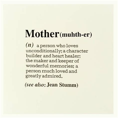 personalised mother definition card by betsy jarvis notonthehighstreet com