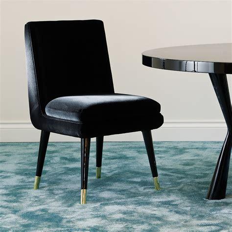 luxury chair company modern italian luxury black velvet dining chair