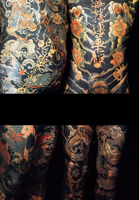 tattooed penises two vintage pre 1980s japanese suit tattoos by