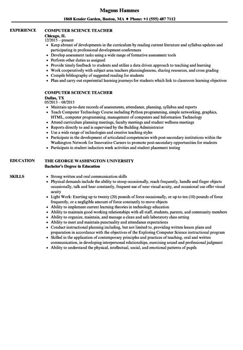 alluring internship resume sample for computer science for example