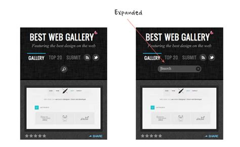 Best Web Search Expandable Mobile Search Form Web Designer Wall Design Trends And Tutorials