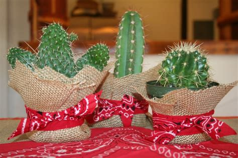 western themed centerpieces cowboy cacti centerpiece get out of