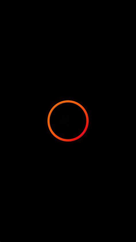 wallpaper android orange orange circle minimal android wallpaper free download