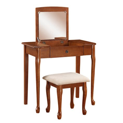 Jewelry Armoire Vanity Set by Linon Jewelry Armoires And Vanity Sets