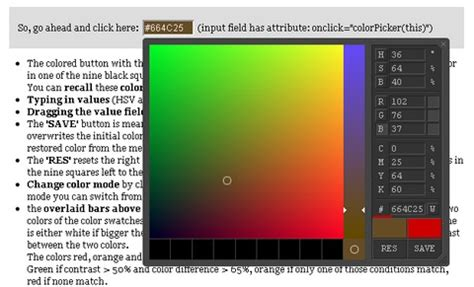 javascript color picker highly customizable javascript colorpicker with 4 sizes