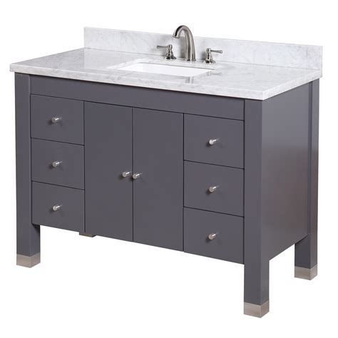 Single Vanity Bathroom Kbc 48 Quot Single Bathroom Vanity Set Wayfair