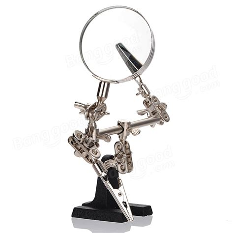 len glas soldering iron stand cl clip 2 5x magnifying