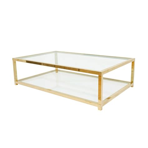 two tiered brass and glass coffee table coffee tables