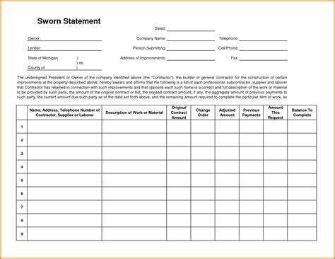 sworn statement template okl mindsprout co