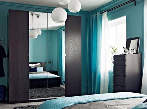 pax black brown wardrobe  nexus black brown doors  vikedal mirror doors home bedrooms