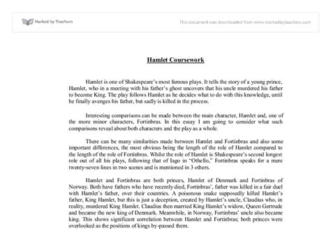 Essay About Hamlet by Hamlet And Othello Essay