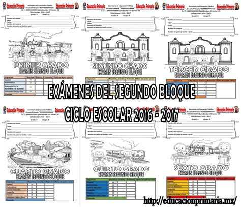 examen para imprimir septiembre 2o primaria 2016 examenes2dobloqueme educaci 243 n primaria