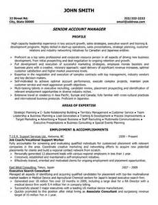 Account Sales Manager Sle Resume by Click Here To This Senior Account Manager Resume