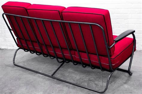 sofa tube 1930s kem weber chrome tube sofa from lloyd manufacturing