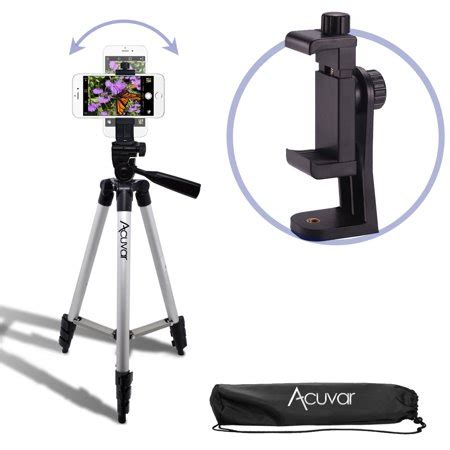 acuvar 50 quot smartphone tripod with rotating mount fits iphone xs xs max xr x 8 8 7
