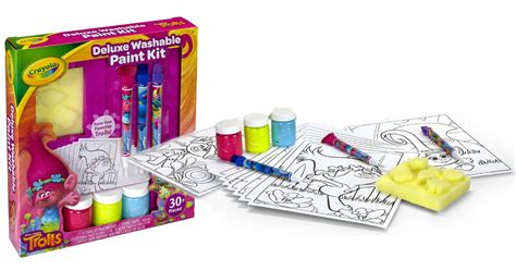 Crayola Deluxe Washable Paint Kit printing crayola trolls deluxe washable paint kit only 10 21 regularly 19 49
