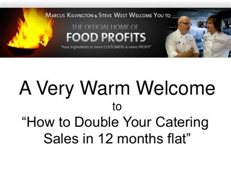 how to your catering sales in 12 months