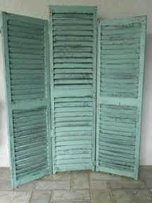 Vintage Room Divider Vintage Shutters Screen And Room Divider
