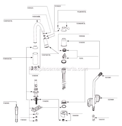 Moen Kitchen Faucet Repairs by Moen 7590csl Parts List And Diagram After 9 10