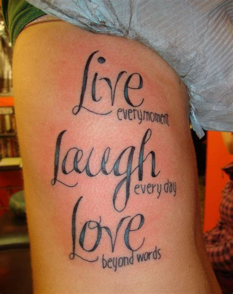live laugh tattoos designs ideas and meaning