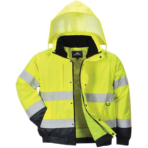 Jacket Boomber Waterproof 2 portwest hi vis 2 in1 bomber jacket waterproof safetec