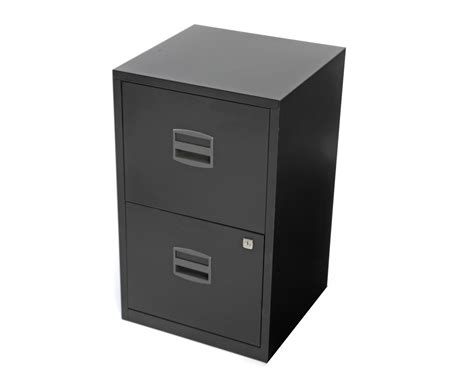 A4 Filing Drawers by Bisley Metal Filing Cabinet 2 Drawer A4 H670xw410xd400mm Silver