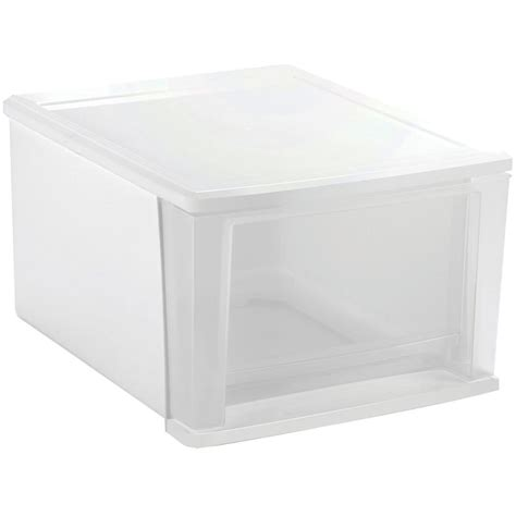 Plastic Drawers by Stackable Plastic Storage Drawers White In Storage Drawers