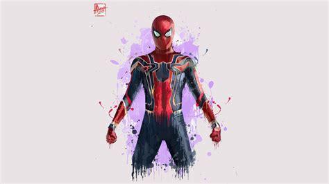 wallpaper iron spider spider man avengers infinity war
