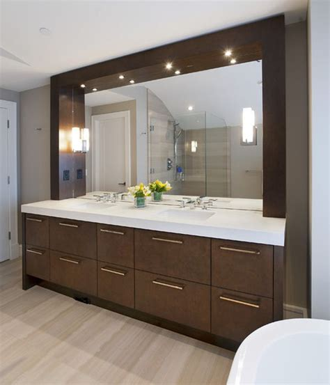 Bathroom Mirror With Built In Light Lights For Modern Vanity Mirror Can Be Built In Or A Form Of Small Ls It May Soft