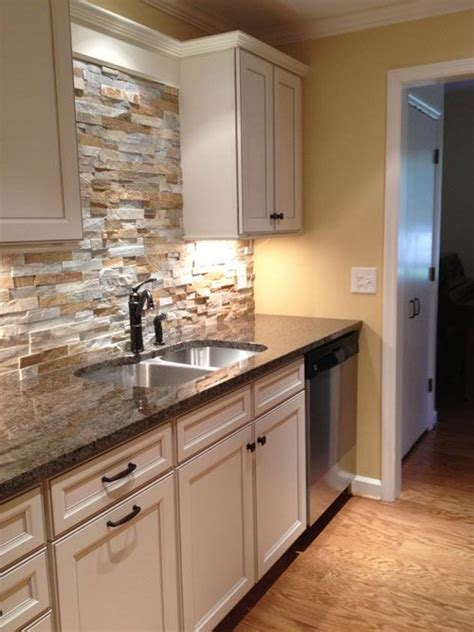 kitchen stone backsplash 29 cool stone and rock kitchen backsplashes that wow