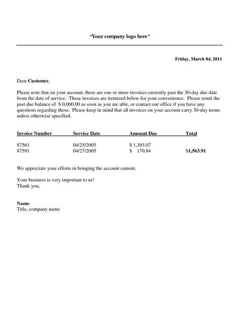 New Invoice Letter past due invoice notice invoice template ideas