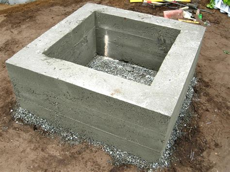 easy way to make a concrete pit pit design ideas
