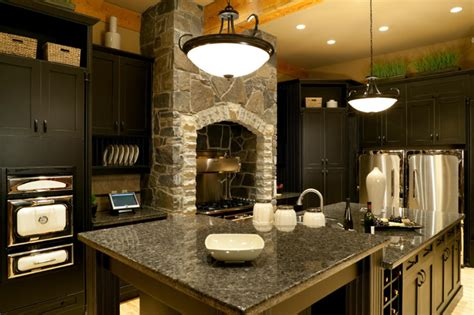 dark kitchen cabinets with dark countertops granite dark kitchen countertop black cabinets granite