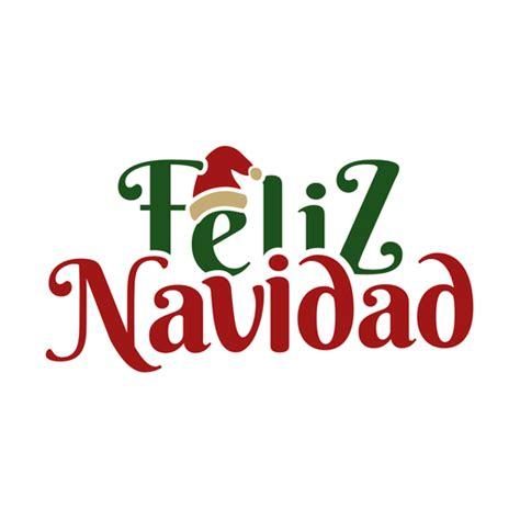 feliz navidad lettering message transparent png svg vector