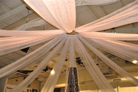 Gossamer Ceiling Decoration by Transformed Our Gymnasium Ceiling With A Hula Hoop And