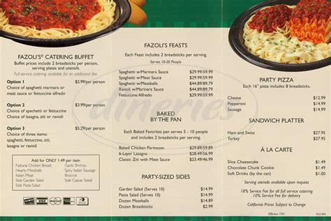 Fazoli S Printable Menu fazoli s related keywords fazoli s keywords
