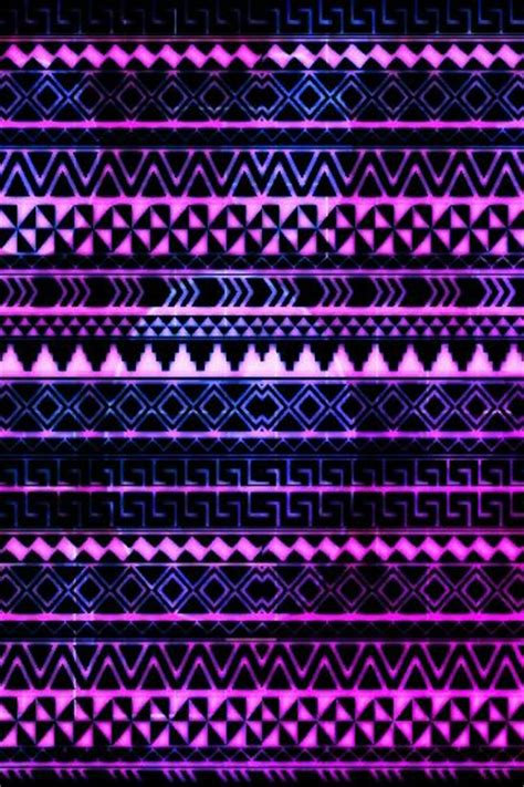 aztec pattern in pink purple pink blue laid out in tribal pattern wallpapers