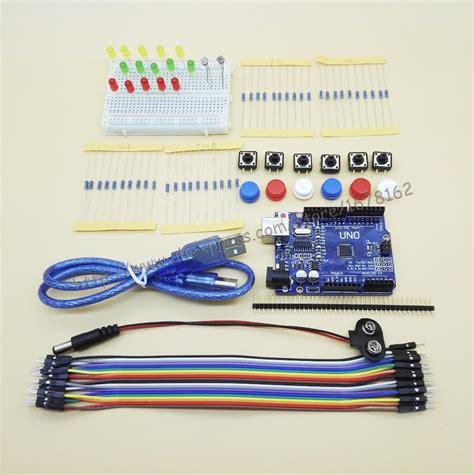 Starter Kit Uno R3 Mini Breadboard Led Jumper Wire Button For Arduino 1 aliexpress buy 1set new starter kit uno r3 mini breadboard led jumper wire button