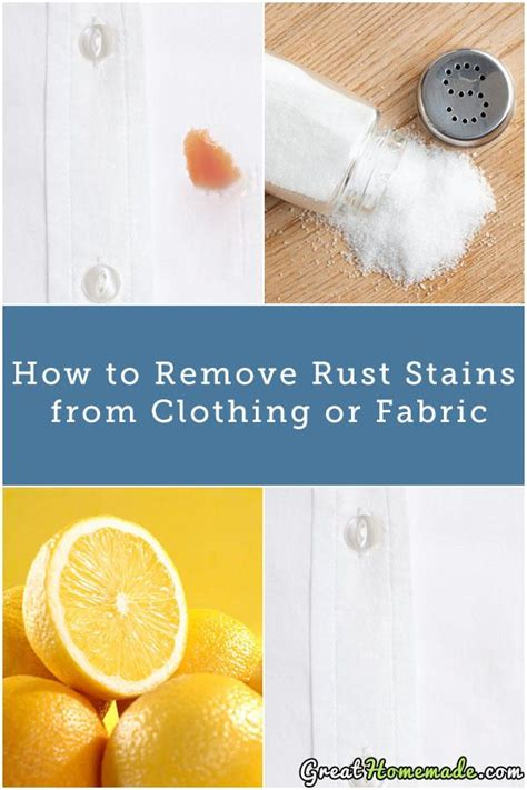 How To Remove Stains by How To Remove Rust Stains From Clothes Anuvrat Info