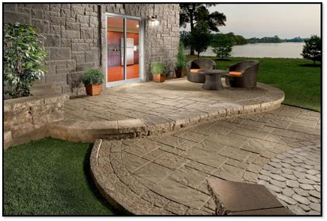using concrete paver patio ideas patio design