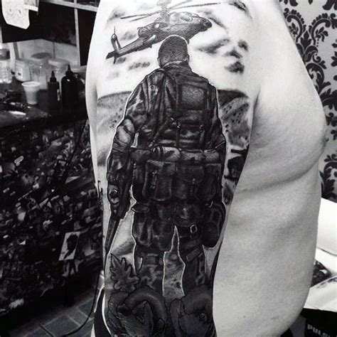 army sleeve tattoo 100 tattoos for memorial war solider designs